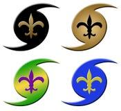 symboler för de fleur orkanlis Royaltyfri Foto
