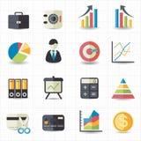 Symboler för diagram för graf för affärsfinanspengar Arkivfoton