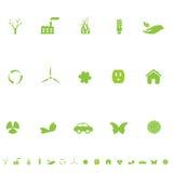 symboler för ecomiljögeneral Arkivfoton
