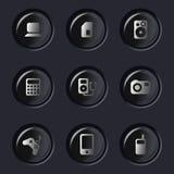 Symboler för elektronisk apparat Arkivbild