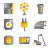 Symboler för elektronisk apparat Royaltyfri Foto