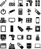 Symboler för elektroniska apparater Arkivfoto