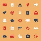 Symboler för färg för kontaktanslutning klassiska med skugga Fotografering för Bildbyråer