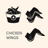 Symboler för fega vingar royaltyfri illustrationer