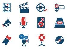 Symboler för filmbransch Arkivbilder