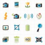 Symboler för fotokamerainställning Royaltyfri Bild