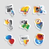 Symboler för fritid royaltyfri illustrationer