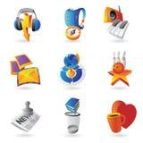 Symboler för fritid vektor illustrationer