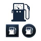 Symboler för gaspump planlägger, isolerade vektorillustrationer Royaltyfri Foto