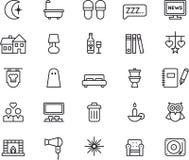 Symboler för god natt Arkivfoto