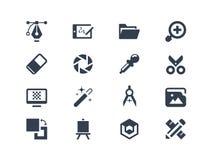 Symboler för grafisk design Arkivfoton
