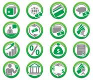 symboler för gruppsamlingsfinans Royaltyfria Foton