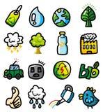 symboler för hand för tecknad filmdraweco Arkivfoto
