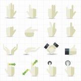 Symboler för handgest Arkivfoton
