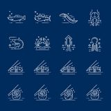 Symboler för havsmat Royaltyfria Foton