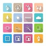 Symboler för hem- anordningar i plan designuppsättning 3 Royaltyfria Bilder