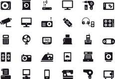 Symboler för hem- anordningar och för elektroniska apparater Arkivbild
