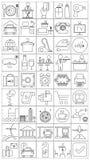 Symboler för hotell och lopp Arkivbild