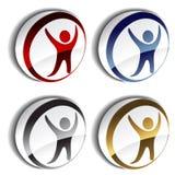 symboler för human 3d stock illustrationer
