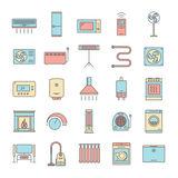 Symboler för hushållanordningar Arkivfoto