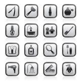 symboler för huvuddelomsorgsskönhetsmedel Royaltyfria Bilder