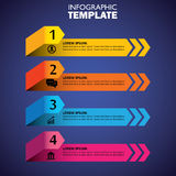 Symboler för Infographic designmall och marknadsföringsvektor Arkivfoto