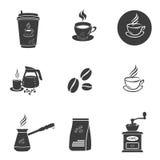 Symboler för kaffeuppsättning Royaltyfri Foto