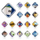 symboler för kommers e online shoppar lokalrengöringsduk stock illustrationer