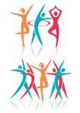 Symboler för konditiondanskvinnor Arkivbild
