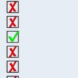 symboler för kontrolllista Royaltyfri Fotografi