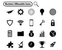 Symboler för konturaffärslägenhet Arkivbilder