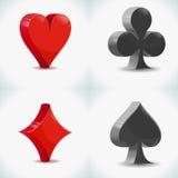 symboler för kort 3D royaltyfri illustrationer