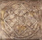symboler för kristenkorsrome sun Arkivbild