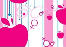 symboler för kvinnligman s Arkivbilder
