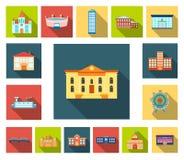 Symboler för lägenhet för byggnadsreparation i uppsättningsamlingen för design Byggnadsmaterial och hjälpmedelvektorsymbolet lage royaltyfri illustrationer