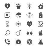 Symboler för lägenhet för dag för valentin` s Arkivbild