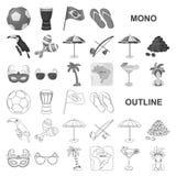 Symboler för landsBrasilien monochrom i den fastställda samlingen för design Det lopp- och dragningsBrasilien vektorsymbolet lage stock illustrationer