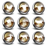 symboler för lantgård 3d Royaltyfria Bilder
