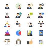 Symboler för ledninglägenhetfärg Arkivbild