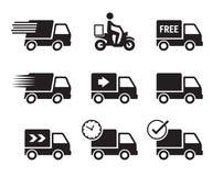 Symboler för leveransbil Arkivfoto