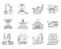 Symboler för livsmedelsförädlingbransch Royaltyfri Foto