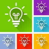 Symboler för ljus kula med lång skugga Fotografering för Bildbyråer