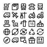 Symboler 2 för logistikleveransvektor Arkivbilder