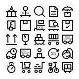 Symboler 4 för logistikleveransvektor Royaltyfri Fotografi