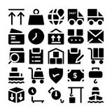 Symboler 8 för logistikleveransvektor Royaltyfri Bild