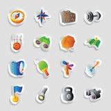Symboler för lopp och fritid stock illustrationer
