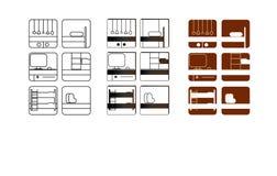 Symboler för möblemangproduktion royaltyfri foto