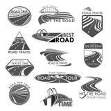 Symboler för mall för vektor för byrå för vägloppföretag royaltyfri illustrationer