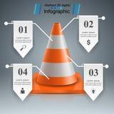 Symboler för mall och för marknadsföring för design för kottereparationsväg infographic Royaltyfria Bilder