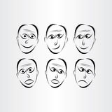 Symboler för manframsidasinnesrörelser Royaltyfria Bilder